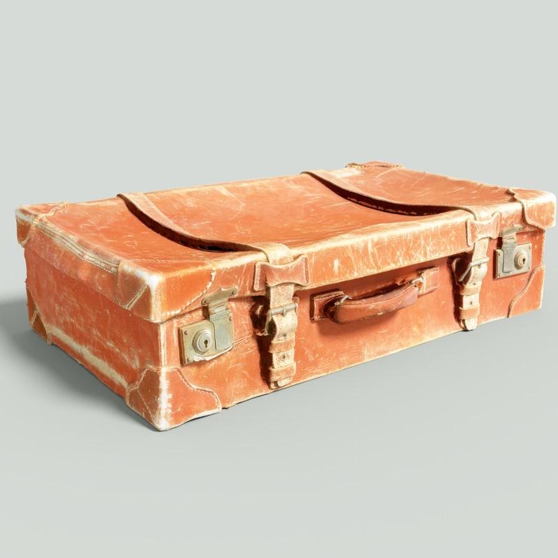 vintage suitcase retro 3D