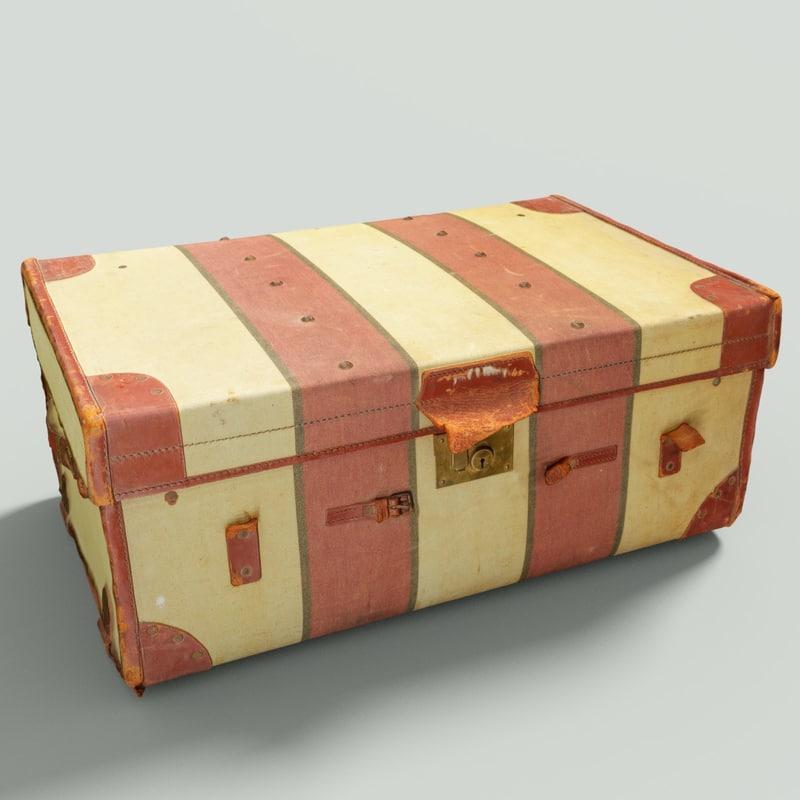 vintage suitcase retro 3D model