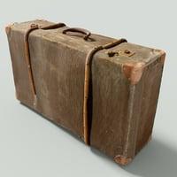 3D model vintage suitcase retro