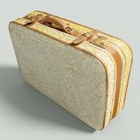 3D vintage suitcase retro