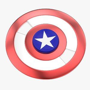 3D model spinner captain america