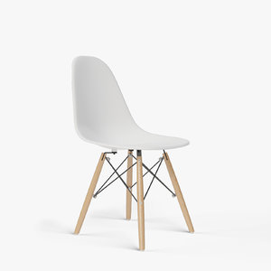 eames molded plastic chair 3D model