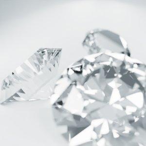 diamonds caustics materials 3D model