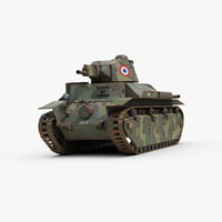 ww2 french char d2 model