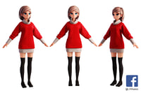 3D sg2fc girl character