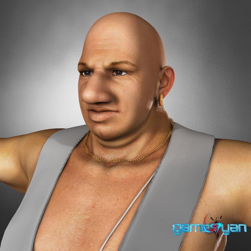 3D semi cartoon indian human character model