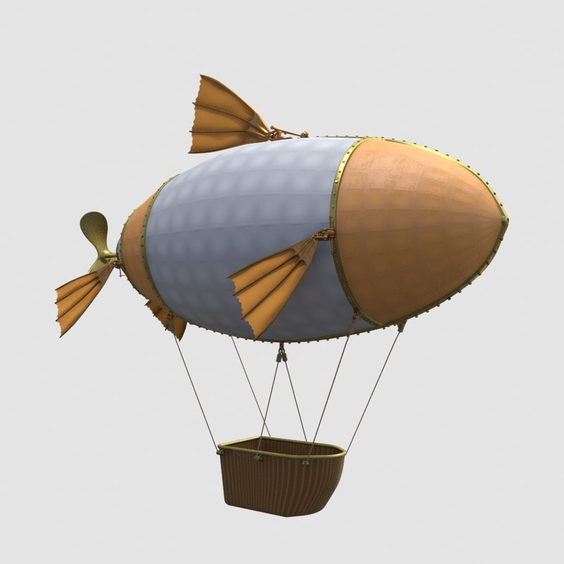 balloon ship 3D