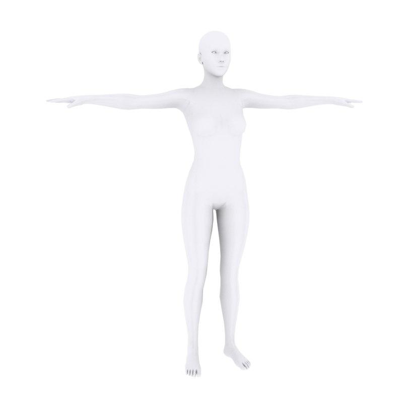 3D female base model