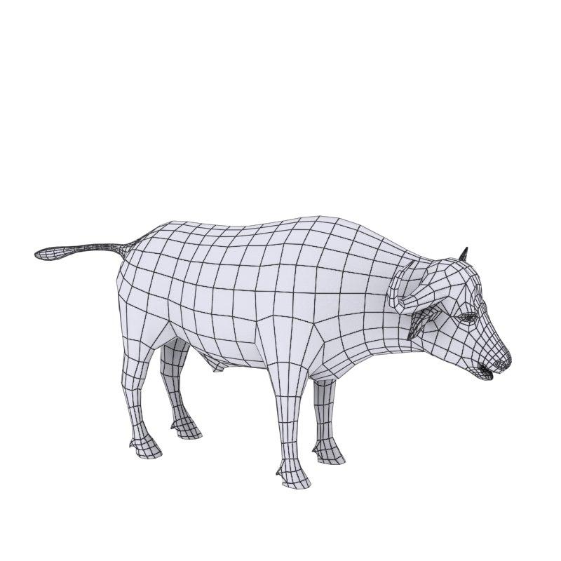 cape buffalo 3D model