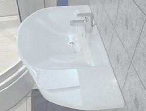 3D sink gustavsberg nordic model