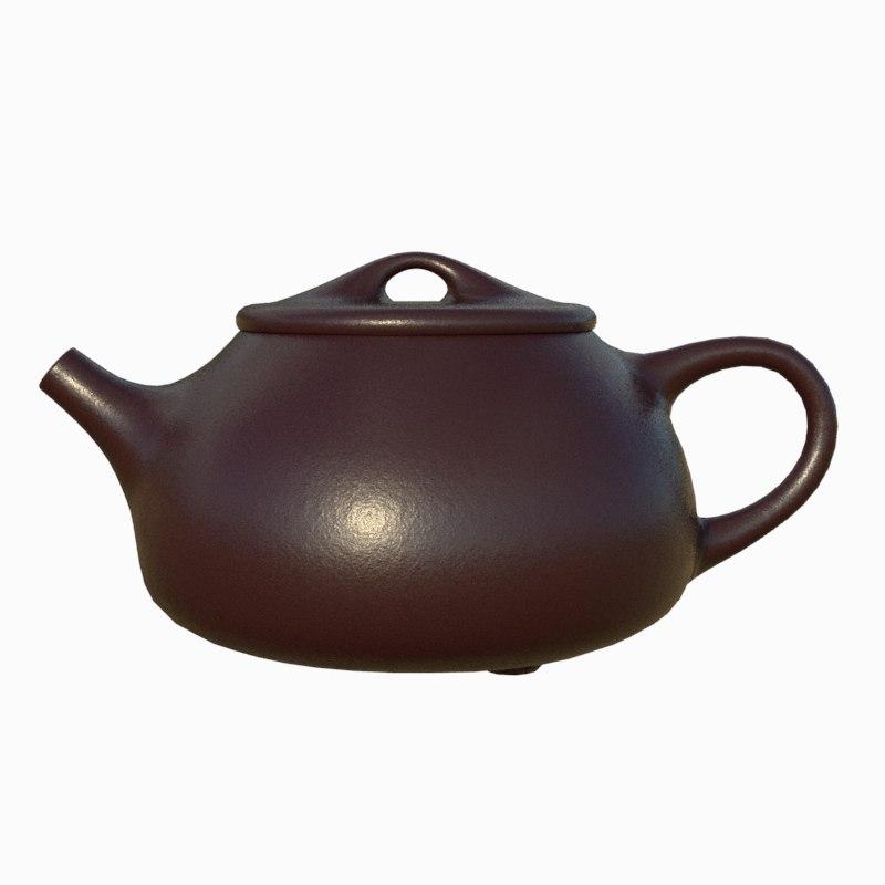 tea pot chinese 3D model