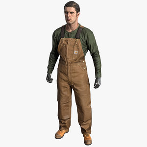 workman dungarees 3D model