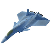 3D futuristic fighter