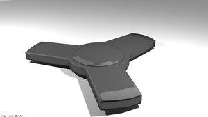 fidget spin spinner 3D