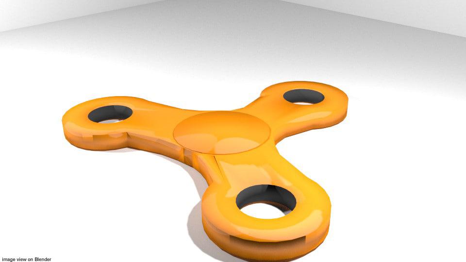 3D fidget spin spinner model