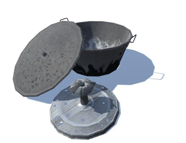 ancient washing machine s 3D model