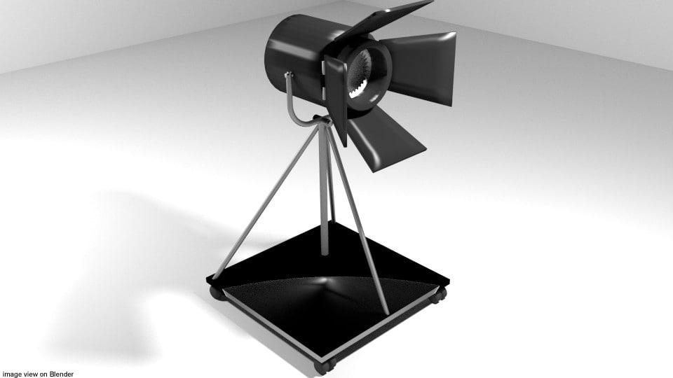 3D model 1 light studio