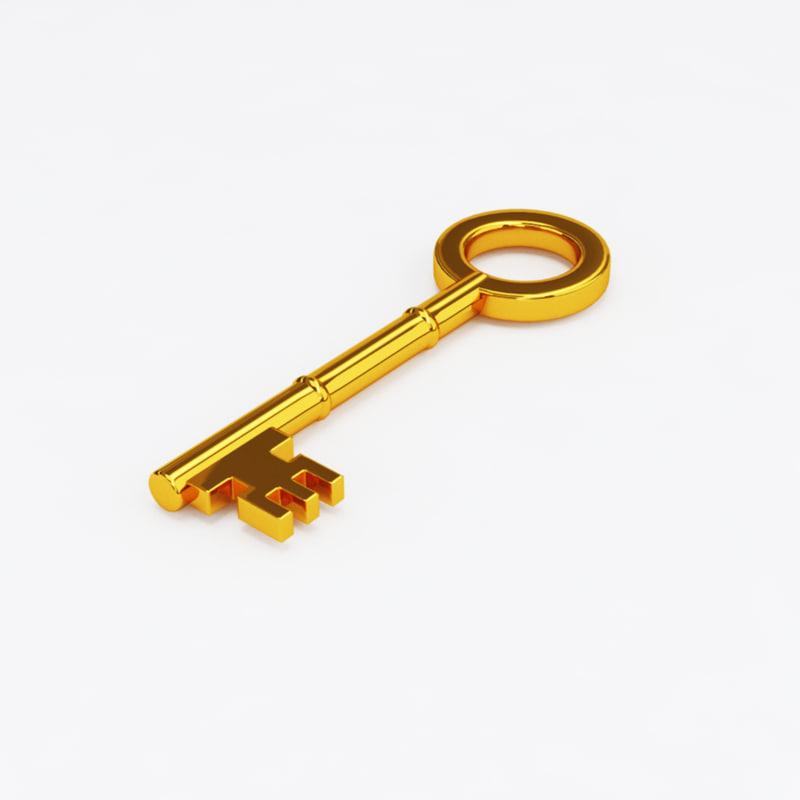 gold key 3D