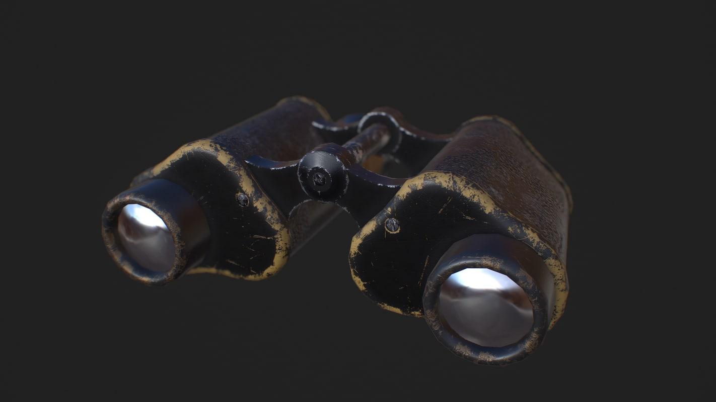 binoculars pbr 3D model