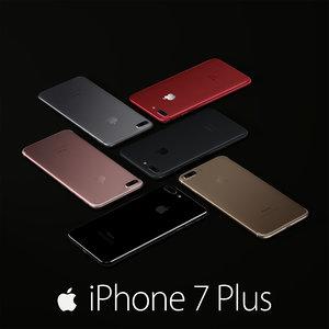 3D apple 7 colors