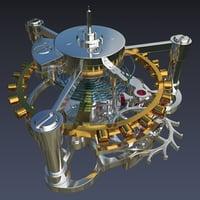 3D tourbillon model