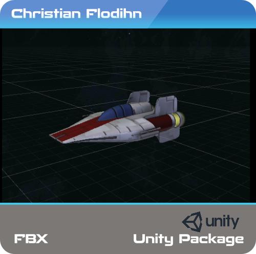 3D a-wing interceptor