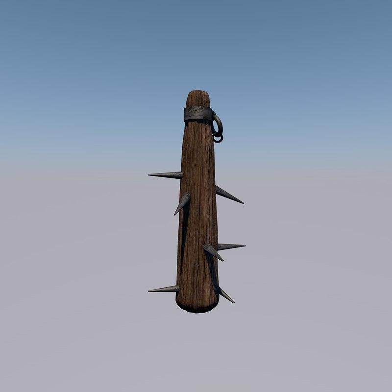 mace barbarian 3D model