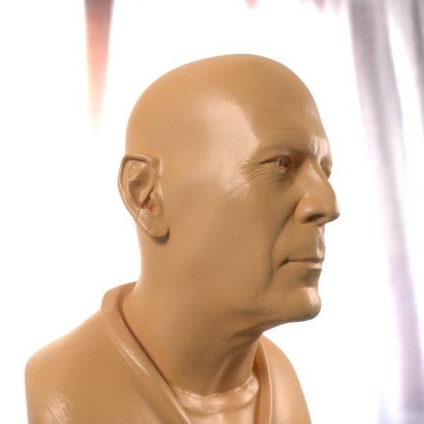 bruce willis bust printable 3D model