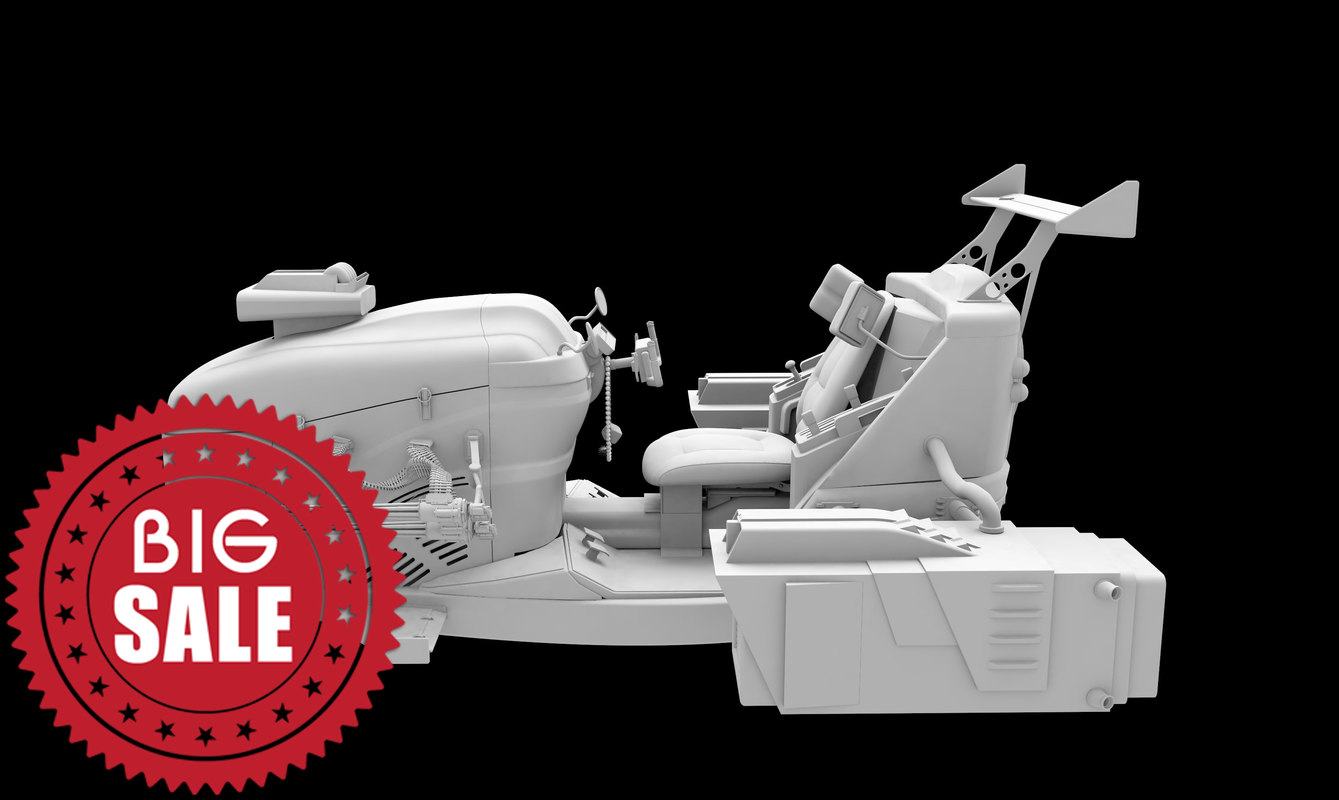 3D model fantasy jet moto