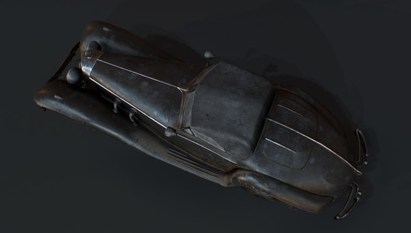 wrecked car 3D model