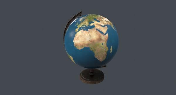 globe pbr ue4 3D