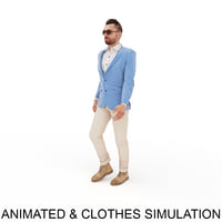 animation clothes point 3D