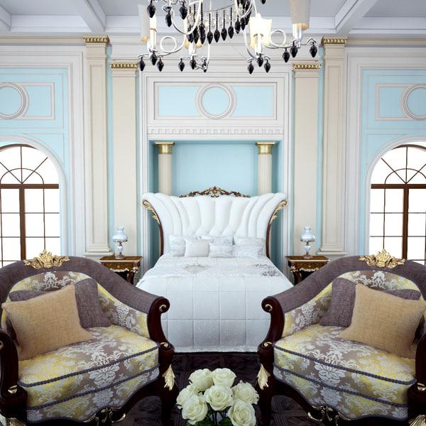 3D classic bedroom