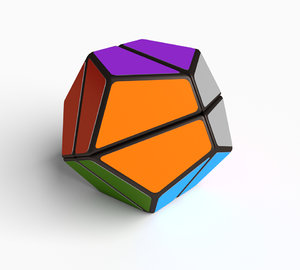 dodecahedron cube puzzle 3D model
