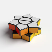 3D model rare cube puzzle hexagonal