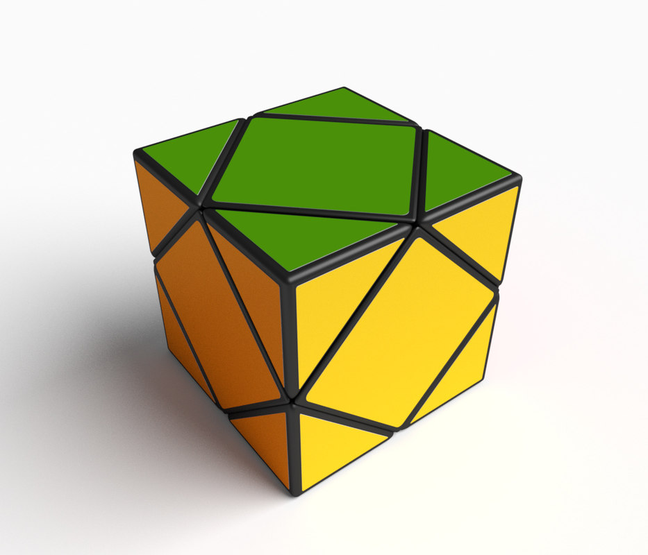 rare cube puzzle skewb model