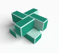 rare cube puzzle 2x2 3D model