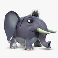 Striped Elephant (Rigged)