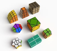 rare cube puzzles set model