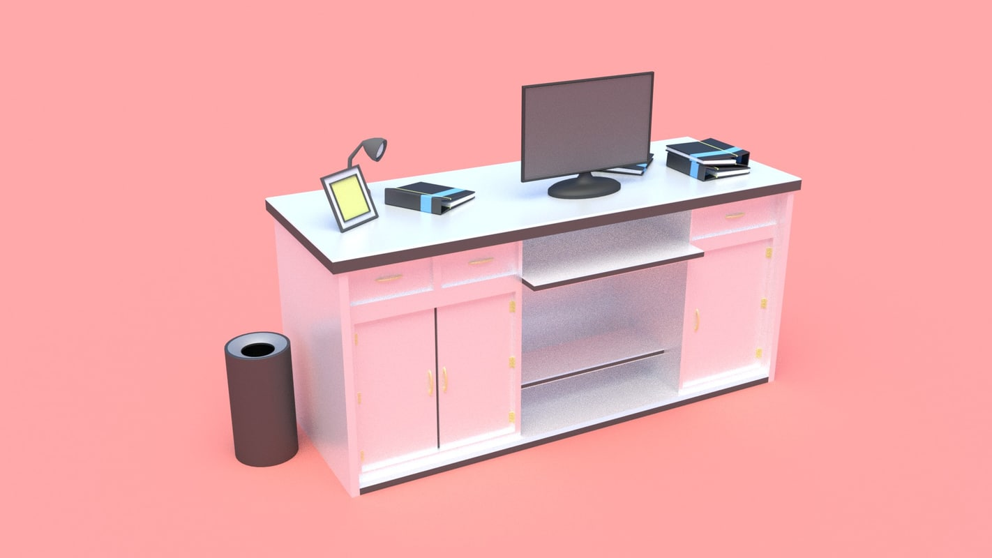 3D study table model