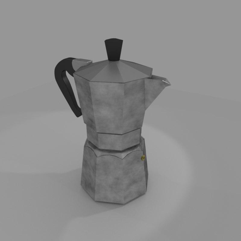 greca coffee maker 3D model