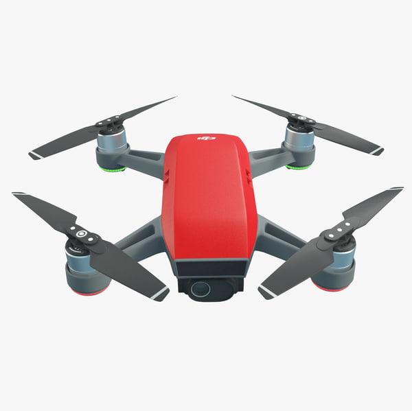 dji spark quadcopter 3D