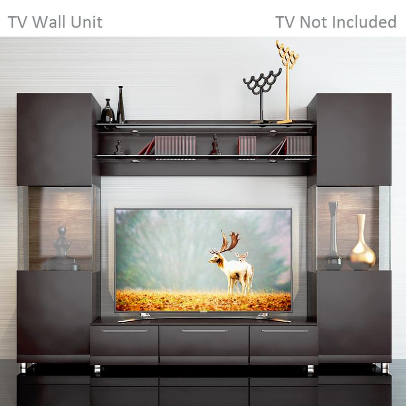 3D tv wall 2 model