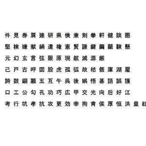 chinese ms gothic font model