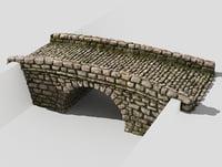3D model creek bridge