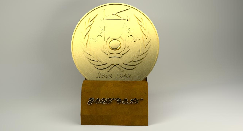 gold coin da 3D
