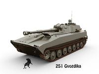 3D model 2s1 gvozdika