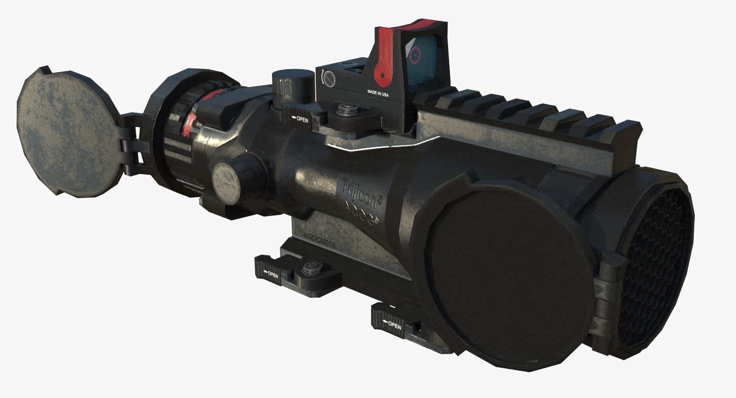 3D trijicon acog 6x48 model