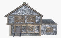 Boarded up Medieval House with addon