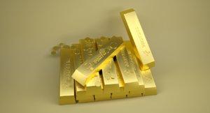 3D model gold bar
